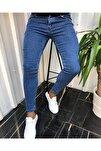 Erkek Jean Italyan Kesim Denım Kot Mavi Pantolon