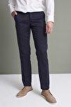 Erkek Koyu Lacivert (202) Klasik Rahat Kalıpkumaş Pantolon