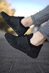 Siyah Siyah Cilt Erkek Sneaker 0012105