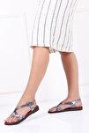 Hakiki Deri Twinkle-1 Kadın Deri Sandalet Dp-0071