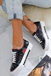 Kadın Siyah Karışık Renkli Spor Ayakkabı