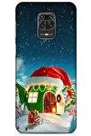 Xiaomi Redmi Note 9s Kılıf Snowix (2) Kabı Yeşil Kırmızı
