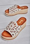 Bej Süet Kadın Sandalet L0578470065
