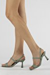 Kadın Çift Bantlı Topuklu Ayakkabı