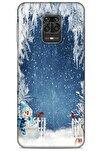 Xiaomi Redmi Note 9 Pro Kılıf Snowix (6) Silikon Kılıf Açık Mavi