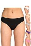 Kadın Karışık Renk 12'li Paket Bikini Külot Elf568t0635ccm12