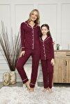 Anne Kız Interlok Kumaş Pijama Takımı Kombini