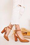 Lillian Topuklu Taba Süet Ayakkabı