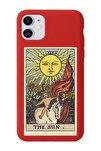Iphone 11 Kırmızı Lansman The Sun Baskılı Telefon Kılıfı