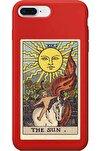 Iphone 7 Plus Kırmızı Lansman The Sun Baskılı Telefon Kılıfı