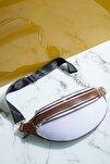 Kadın Çanta Beyaz Kahve Tbc01