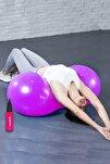 Fıstık Top 90x45 Cm Fıstık Şeklinde Pilates Topu Ve Şişirme Pompası Plates Fitness Seti Set