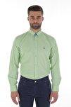 Uzun Kollu Erkek Gömlek Yeşil/Green 1912007