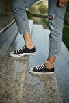 Kadın Spor Ayakkabı Siyah Simli