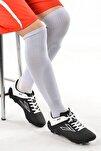 Erkek Siyah Beyaz  Çim Saha Spor Futbol Ayakkabısı