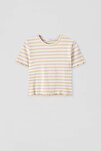 Kadın Portakal Kıvrımlı Kenarlı Basic T-Shirt 05234369