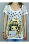 Kadın Ekru Uzun Bady T-shirt