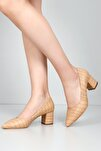 Bej Krako Kadın Klasik Topuklu Ayakkabı 38918