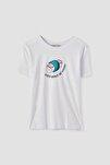 Kadın Beyaz Tasarımlı T-Shirt 05236368