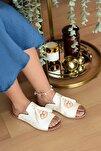 Kadın Beyaz Terrier Sandalet