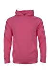 Unisex Pembe Kapişonlu Spor Sweatshirt