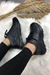Kadın Günlük Spor Siyah Kadın Yürüyüş Ayakkabısı