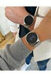 Unisex Siyah Led Dijital Çift Kol Saati