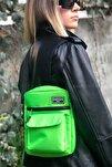 Unisex Neon Yeşil Omuz Ve Çapraz Askılı Çanta