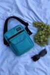 Unisex Açık Mavi Omuz Ve Çapraz Askılı Çanta