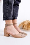 Holly Topuklu Vizon Cilt-süet Ayakkabı