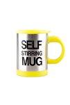 Kendi Kendini Karıştıran Mikser Kupa Termos Bardak ; Self Stirring Mug - Sarı