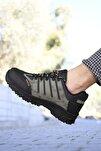 Haki Siyah Erkek Trekking Ayakkabı 0012115