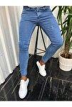 Erkek Jean Italyan Kesim Denım Kot Pantolon Açık Mavi