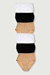 Kadın Karışık Renk 6'lı Paket Ribana Bato Külot Elf568t0922ccm6