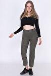 9380793 Fitilli Beli Lastikli Uzun Pantolon Hakı
