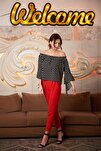 8122590 Azra Cepli Beli Lastikli Havuç Pantolon Kırmızı