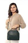 Aynı Butikte 2.Ürün 1 TL  Yeşil Kadın Çok Bölmeli Omuz Çantası Çapraz Çanta ve El Çantası