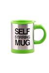 Kendi Kendini Karıştıran Mikser Kupa Termos Bardak; Self Stirring Mug - Yeşil
