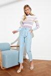 Açık Mavi Kuşaklı Bilek Boy Pantolon TWOSS19ST0069
