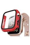 Apple Watch Series 3 38mm Kılıf Thin Fit - Matte Premium Ekran Koruyuculu Slim Kılıf - Kırmızı