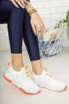 Beyaz Oranj Kadın Sneaker