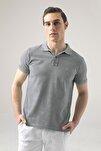 Regular Fit Mavi Pike Dokulu T-shirt