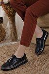 Kadın Siyah Oxford Spor Ayakkabı Püsküllü05012020