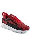 Erkek Kırmızı Siyah Renk Beyaz Taban Spor Ayakkabı 029