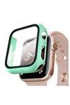 Apple Watch Series 3 38mm Kılıf Thin Fit - Matte Premium Ekran Koruyuculu Slim Kılıf - Yeşil