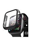 Apple Watch Series 3 38mm Kılıf Thin Fit - Matte Premium Ekran Koruyuculu Slim Kılıf - Siyah