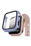 Apple Watch Series 3 38mm Kılıf Thin Fit - Matte Premium Ekran Koruyuculu Slim Kılıf - Lila