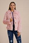 Kadın Pembe Suni Kürk Peluş Ceket Psk1011