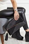 Siyah Kadın Portföy  Clutch Çanta