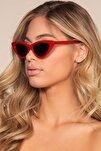Cat Eye Bayan Güneş Gözlüğü Uv400 Kırmızı